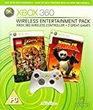 Xbox 360 Wireless Entertainment Pack (includes Xbox 360 Wireless Controller and Two Xbox 360 Games: Lego Indiana Jones, Kung Fu Panda) - Xbox 360 Console Sold Separately