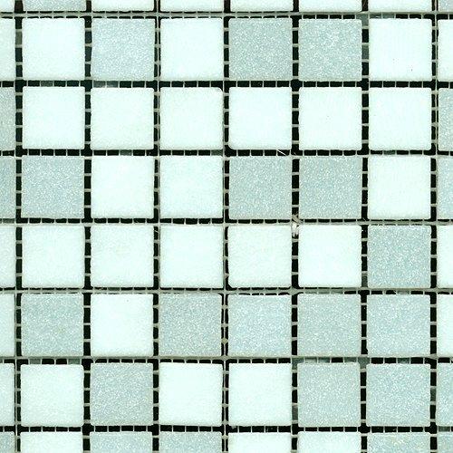 Glasmosaik mix weiß 20x20 (1 Matte)