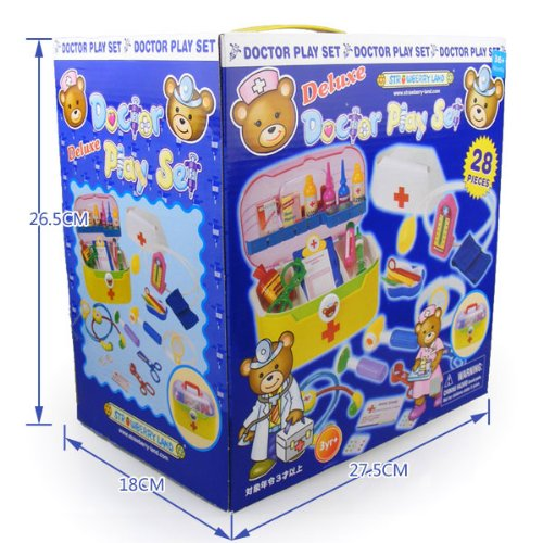 Children'S Educational Toys Doctor Game Suite 28 Medical Apparatus Emulational Injection Medicine Box