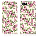 IPhone 5S / iPhone 5 Trendy Pretty Vintage Floral Print Flip Case Cover by Call Candy