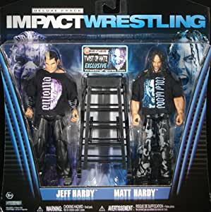 TWIST OF HATE - JEFF HARDY & MATT HARDY - RINGSIDE DELUXE EXCLUSIVE TNA IMPACT TOY WRESTLING ACTION FIGURE 2-PACK