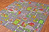 Children's Play Village Mat Town City Roads Rug 200cm x 200cm (6ft 7
