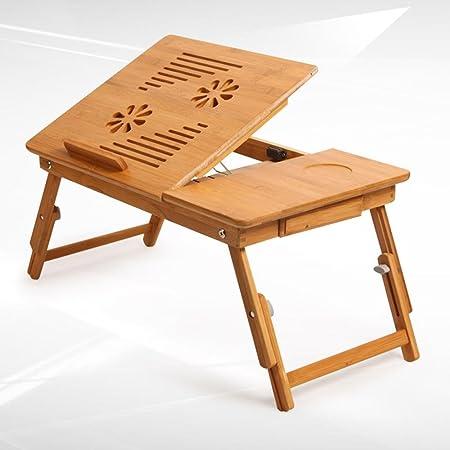 BBSLT Scrittorio del computer portatile di moda, bambù finestra minimalista moderno tavolo pieghevole, tavolo di studio studente dormitorio