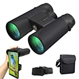 Binoculars for Adults Compact,12x42 HD Roof Prism Waterproof Binocular with Night Vision,Explore Nature, Folding Spotting Telescope Bird Watching, Camping Hunting,Outdoor Sports,Explore Nature (Color: Binoculars12x42)