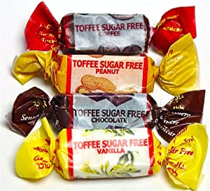 Golightly ASSORTED TOFFEES, 1 lb, Sugar Free, Individually wrapped (about 65 pcs)