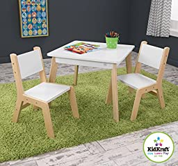 Modern Table and 2 Chairs Set sturdy construction and detailed sleek and stylish design step by step assembly instructions MDF construction Product Dimensions (L x W x H): 23.62 x 23.62 x 19.02 Inches
