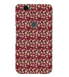 Fuson Premium Petals and Flowers Printed Hard Plastic Back Case Cover for Huawei Nexus 6P