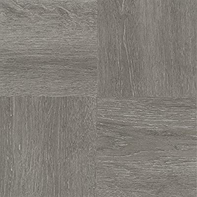 Achim Imports FTVWD22945 Achim Home Imports Tivoli Charcoal Grey Wood 12 inch x 12 inch Self Adhesive Vinyl Floor Tile #229,