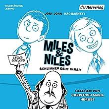 Schlimmer geht immer (Miles & Niles 2) Hörbuch von Jory John, Mac Barnett Gesprochen von: Christoph Maria Herbst