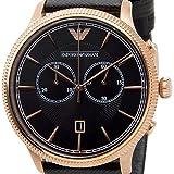 エンポリオ アルマーニ クラシック クオーツ クロノ 腕時計 AR1792 ブラック