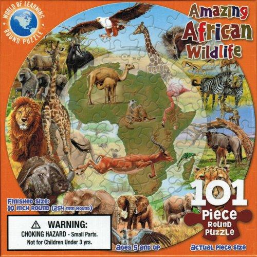 Amazing African Wildlife 101 piece Round Jigsaw Puzzle
