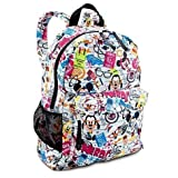 Disney World Parks Exclusive Nerds Mickey Minnie Mouse & Friends Pattern Full Size Backpack - NEW