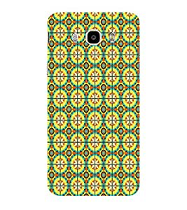 ifasho Animated Pattern design colorful flower in royal style with lines Back Case Cover for Samsung Galaxy On8