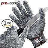 [Schnittschutzhandschuhe] Pro-sonic Hochleistung Schnittschutz Handschuhe Leicht 5 Handschutz Ebene
