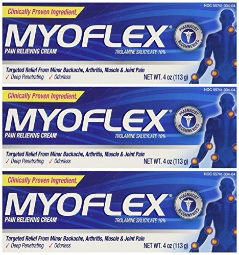 Myoflex-Odorless-Pain-Relieving-Cream-4-Ounce-Tubes-Pack-of-3