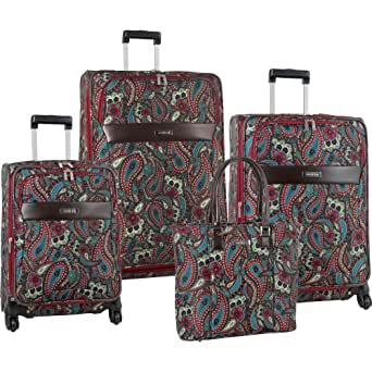 Anne Klein Luggage Enchanted 4 Piece Luggage Set, Paisley, One Size