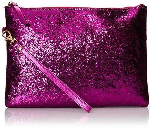 Aldo Gaskey Clutch Handbag, Magenta Glitter,