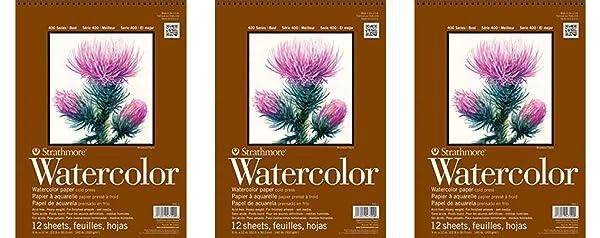 Strathmore 440-1 Strath W.Color 400 9X1212SHT 130 lbspirl, Multicolor (?hr?? P?ck, Multicolor) (Color: Multicolor, Tamaño: ?hr?? P?ck)
