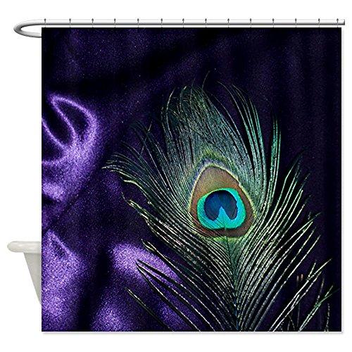 CafePress Purple Peacock Feather Shower Curtain Decorative Fabric