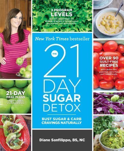 By Diane Sanfilippo Bs Nc The 21-Day Sugar Detox: Bust Sugar & Carb Cravings Naturally (Paperback With Flaps)