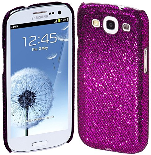 Vandot 1X Bling Cases Samsung Galaxy S3 I9300 Case (Hard Back) Glitter Rhinestone Case Cover Protector Case Cover - Purple front-979402