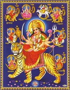 Amba / Ambe Mataji / Maa Sheravali / Devi Amba with NavaDurga (9 Durga