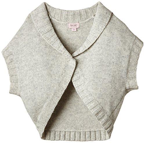 Noa Noa - MINI BASIC WOOL-02, Maglione per bambine e ragazze, grigio (grey melange 5), 11 anni