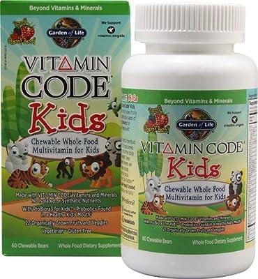 Garden of Life Vitamin Code Kids, 60 Chewable (Pack of 3) , Garden-u6w3