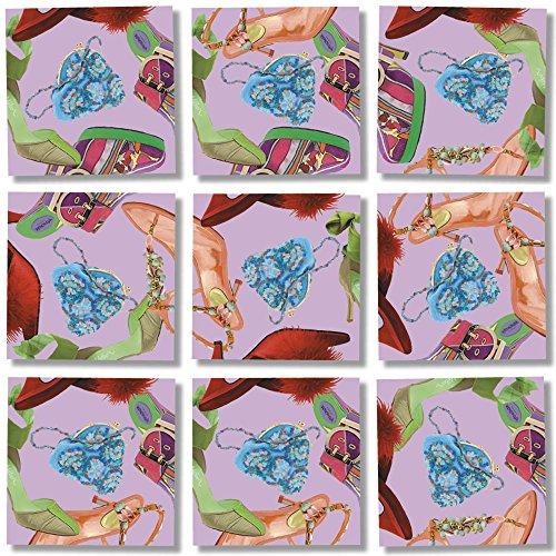 B Dazzle Ladies' Shoes Scramble Squares 9 Piece Puzzle