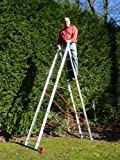 9 Rung 2 Section Combi All-In-One Extension Ladder & Double Sided Step Ladder