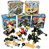 12 Mini BUILDING Block Vehicle Sets/RACE Car/JEEP/Construction, etc/Party FAVOR/STOCKING STUFFERS/Motor Skills