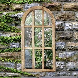 Outdoor Garden Decorative Church Oval Wall Window Mirror