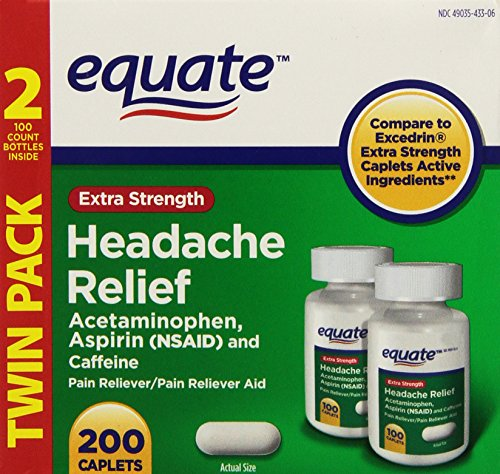 Extra Strength Headache Relief, 200ct, By Equate, Compare to