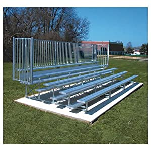 Jaypro Sports Blch-521asgrpc 5 Row 21 Ft With Guard And Aisle Powder Coated by Jaypro