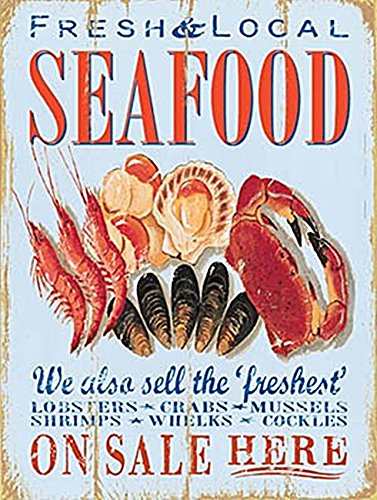 Fresh Local Seafood metal sign (og 2015)