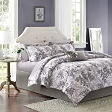 Madison Park Essentials Shelby Complete Bed Set - Grey - Full