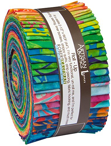 Lunn Studios Artisan Batiks Totally Tropical 4 Roll Up 40 2.5-inch Strips Jelly Roll Robert Kaufman