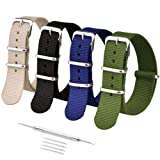 Ritche 20mm NATO Strap Nylon Watch Band Compatible with Timex Weekender Watch for Men Women (Color: Black/Navy/Green/Khaki, Tamaño: 20mm)