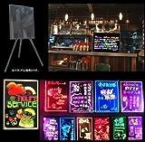店頭看板やメニューボードに LED PRボード  夜の集客力UP 【30×40cm】