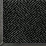 "Andersen 2295 WaterHog Eco Premier Polyester Fiber Entrance Indoor/Outdoor Floor Mat, SBR Rubber Backing, 5' Length x 3' Width, 3/8"" Thick, Black Smoke"