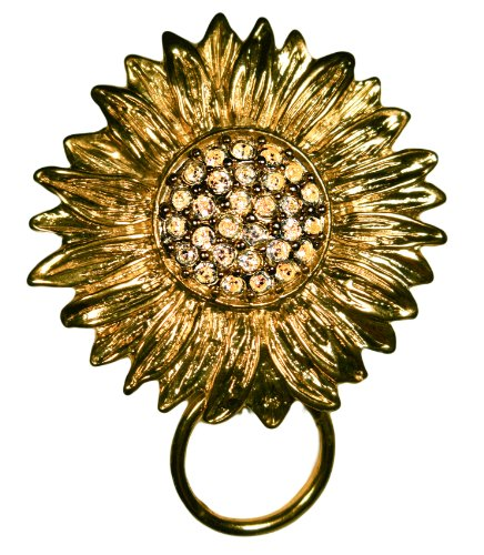 Outasight Patented Eyeglass/ID Holder Brooch: Sizzling  Sunflower