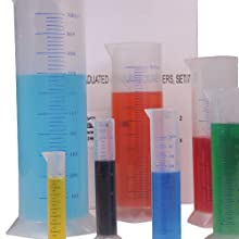 ETA hand2mind Graduated Measuring Cylinders (Set of 7)
