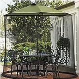 Mr Garden Umbrella Mosquito Patio Table Screen and net, 9' W x 7.2' H (Black)