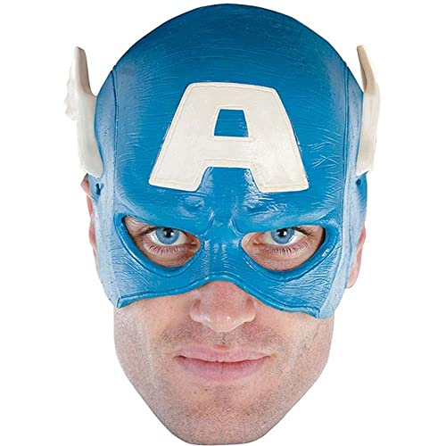 Disguise Mens Marvel Captain America Adult Vinyl 1/4 Mask