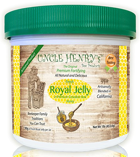 "#1 Best Tasting Royal Jelly, Premium Fresh Farmers Market Quality. Big 1Lb Double-Sealed Artisan California Product Creamy Raw Honey From Canada. Original Green Lid ""You'll Love It"" Henry's Guarantee"