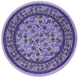 Birds of Paradise Tablecoth 66 Inch Round Purple