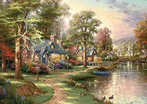 Schmidt Spiele Jigsaw Puzzle 1500 Pieces At the Lake by Thomas Kinkade