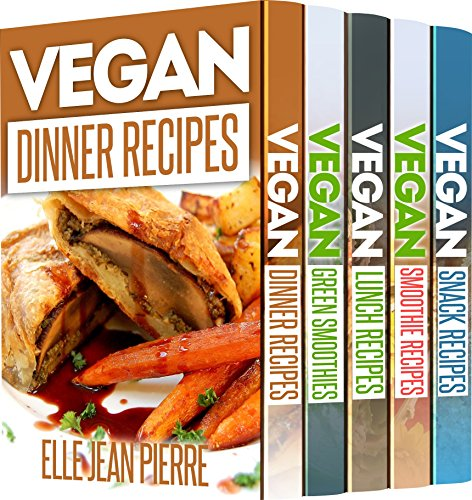 5 Super-Healthy Vegan Recipe Books: 125 Recipes That Will Heal Your Organism and Keep You in Shape by Elle Jean Pierre