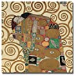 Fulfillment (Detail) by Gustav Klimt Premium Gallery-Wrapped Canvas Giclee Art (Ready-to-Hang) (Oversize)