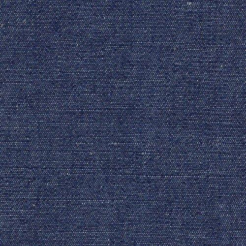 【143cm幅/綿麻生地/】8オンス インディゴデニム 1m単位で切り売りいたします (ブルー系)